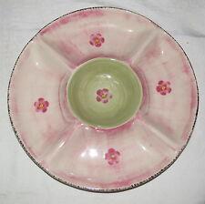 "Franciscan Flora 13"" Chip & Dip Dish Plate - Excellent"