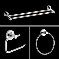 Bathroom Round Accessories 3PCS Value Pack Roll Holder Towel Ring Towel Rail