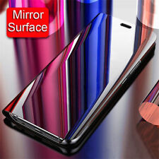 For OnePlus 6T 6 5T Smart Mirror Slim Leather Flip Stand Clear View Case Cover