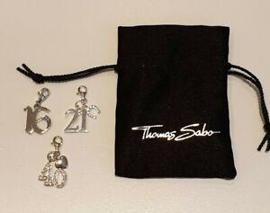Thomas Sabo Sterling Silver & CZ 16 Charm, 21 Charm & 40 Charm Sold Individually