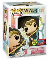 FUNKO POP WW84 WONDER WOMAN 361 GITD GLOWS NYCC SHARED EXCLUSIVE MINT BOX