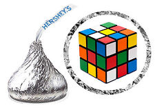 216 RUBIKS CUBE 80'S BIRTHDAY PARTY FAVORS HERSHEY KISS LABELS