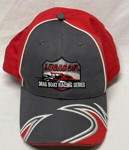Lucas Oil Drag Boat Racing Black Hat New