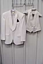 FIRST NIGHTER White One-Button Tuxedo Jacket Size 42R*PROM THEATER COSTUME
