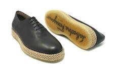 Salvatore Ferragamo Men's Avord Brown Lace Up Dress Shoes Sneakers