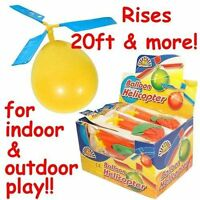1 Balloon Helicopter Fun Fly Toys Kids Children's Party Bags Loot Favour Gift