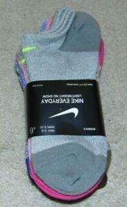 ~6 NEW Light Weight Women's NIKE No-Show Socks! Size M 6-10 Nice:)!