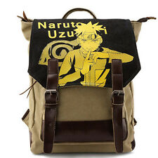 Naruto Shool Bag Manga Uzumaki Kakashi Backpack Shoulder Bag Travel Anime Canvas