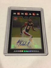 2008 TOPPS CHROME REFRACTOR AUTOGRAPH ROOKIE ANDRE CALDWELL AUTO RC /50