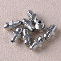 8Pc M6x1 Male Thread Straight Metal Grease Nipple Zerk Nozzle Fit For Automotive