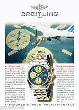 PUBLICITE ADVERTISING 125  1997  BREITLING montre  chronomat GT  AIR FRANCE