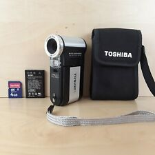 TOSHIBA CAMILEO PRO HD DUAL POCKET DIGITAL CAMERA & VIDEO CAMCORDER BLACK