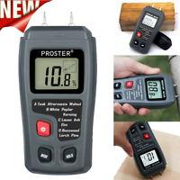 Damp Meter Digital LCD Moisture Detector Wood Brick Humidity Caravan bara