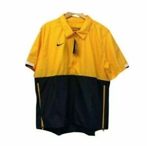 Nike Men's Short Sleeve 1/4 Zip Football Coaches Windbreaker CI4479-717 MSRP $65
