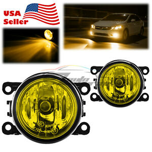 Pair Fog Light Yellow Lens OEM Quality Replacement For 2015-2021 Honda Civic F4
