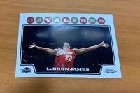 2008-09 Topps Chrome #23 Lebron James Chalk Toss Cleveland Cavaliers