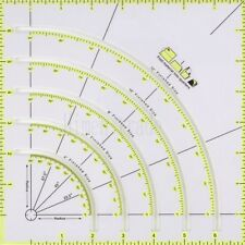 New Ruler Non-slip Circle Cutter 8 X 8 Cm Fold Material Into Quarters For Sewing