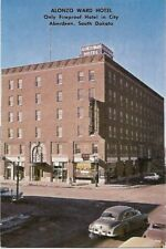 Alonzo Ward Hotel Aberdeen South Dakota 1960 Postcard