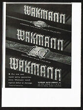 1940's Vintage 1948 Wakmann Watch Co. - Paper Print AD