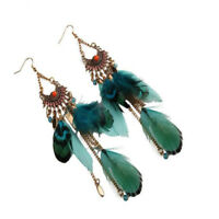 Tassel Feather Style Ethnic Boho Big Dangle Wedding Earrings Accessories