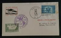 1936 Hewitt NJ to Albion PA First American Rocket Airplane Flight Air Mail Cover