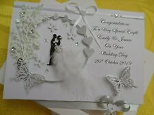 Handmade Personalised 3D Wedding Day Card / Anniversary Card with GIFT BOX   8.0