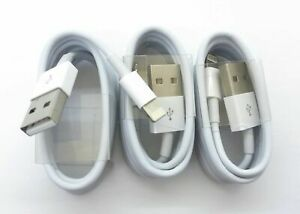 3 Pack USB Data Charging Cord Cable For  iPhone 5 SE 6 s 7+ Plus X Xs Xmax White