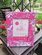 "New Lilly Pulitzer Alpha Phi Sorority Picture Frame Pink White Fabric 7"" x 9"""