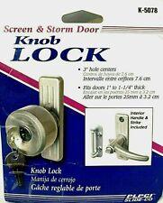 Door Knob with Key Screen & Storm Primeline K 5078  Lock Out Swinging Door New