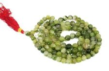 Ancient Green Moldavite 8mm 108 Round Beads Tibetan Hindu/Buddhist Prayer Mala