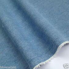 Par mètre moitié 100% coton 8oz bleu clair lavé denim 147 cm de large