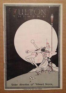 VTG ART DECO BROADWAY PROGRAM - FULTON THEATER -1923; SECRETS; MARGARET LAWRENCE