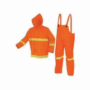 MCR LUMINATOR Safety High Visibility Rainwear Rain Suit Pants Jacket 2013R Large