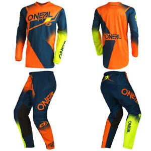 O'Neal Element Orange/Blue Jersey Pants motocross MX dirt bike gear package set