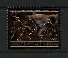 R667  Ajman/Manama  1970  football soccer GOLD FOIL  1v.    MNH