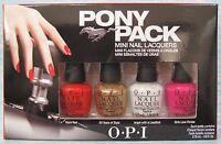 OPI PONY PACK 4-pc Mini Nail Lacquer Polish Gift Set ~ F68, F69, F73, F72 1/8 oz