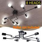 8Lights Vintage Industrial Ceiling Chandelier E27 Light Steampunk Pendant Lamp