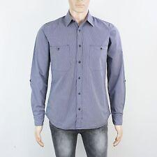 TopMan Mens Size M Blue Grey Long Sleeve Shirt