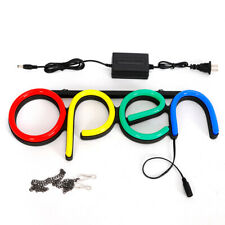 Open Sign Lamp Store Outside Wall Led Neon Decor Light Business Sign Bar Open