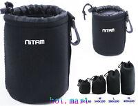 1 PCS DSLR Camera Lens Neoprene Pouch bag Case For Cannon Nikon Sony ( L )BAG