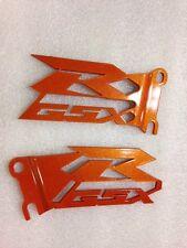 SUZUKI GSX-R GSXR 600 750 1000 Orange Heel Guards Plates NEW! CUT OUT