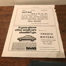 1969 Saab Advertisement Goes Places other Small Cars Shouldn't Go V-4 Vasa Book