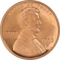 1992 S Lincoln Memorial Cent Choice Proof Penny 1c Coin Collectible