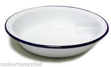Falcon Enamel Pie Dish Round - Traditional White 22cm