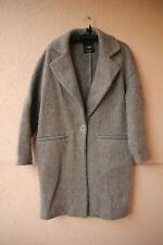 Grauer Mantel mit Druckknopf von Mango Basics, Gr S
