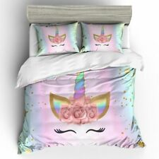 3D Cute Unicorn Bedding Set Duvet Cover And Pillowcases Size For Girls