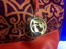 SPARTINA 449 Boutique MAGGIONI Bucket Hobo Purse Bag PERSIMMON/BROWN NWOT