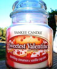 "Yankee Candle ""SWEETEST VALENTINE"" SWIRL ~ Sparkling Cinnamon & Vanilla Cupcake"