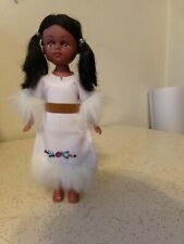 Vintage Hard Plastic Indian BRIDE Girl Doll 7""