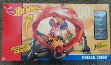 New Hot Wheels Fireball Crash track set with 5 cars